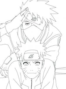 Naruto Uzumaki Coloring Pages