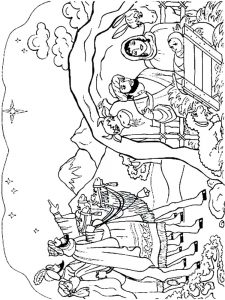 Nativity Scene Coloring Page Free