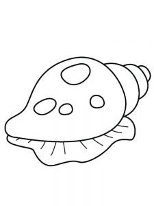 Nautilus Shell Coloring Page