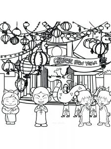 New Year Coloring Pages For Adults