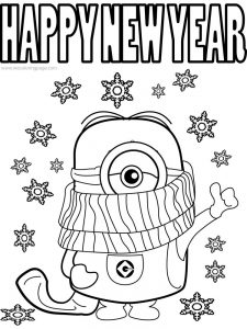New Year Coloring Pages Printable