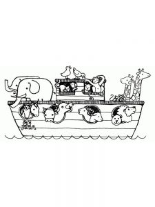 Noahs Ark Animal Coloring Pages