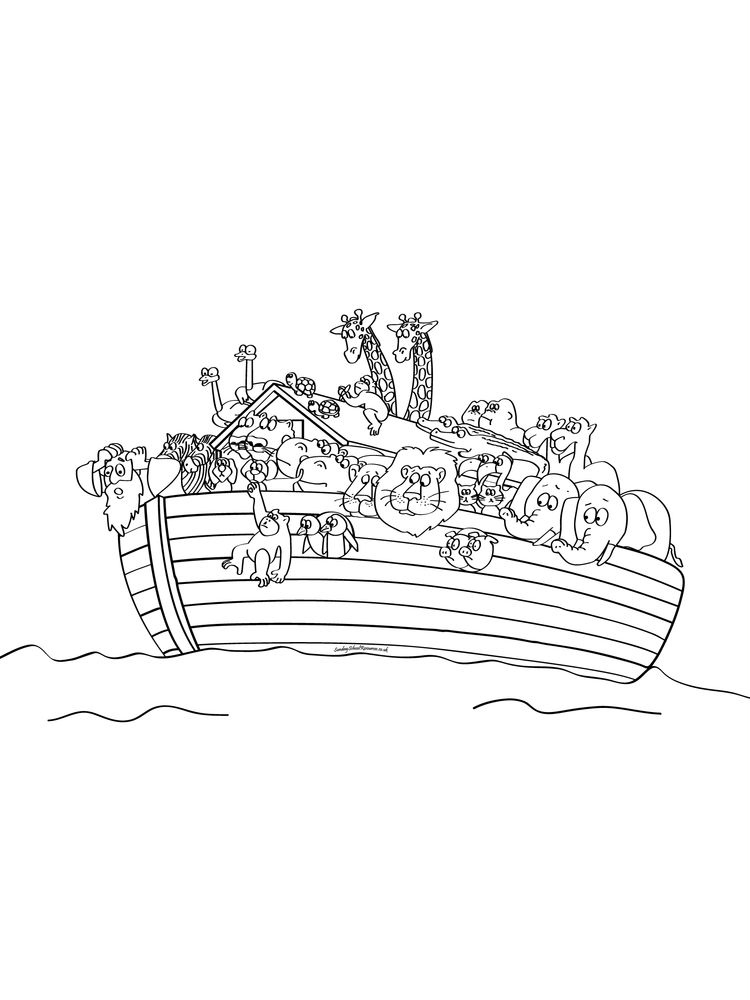 Noahs Ark Coloring Pages Animals