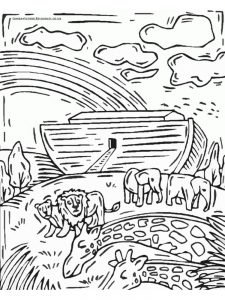 Noahs Ark Coloring Pages Easy