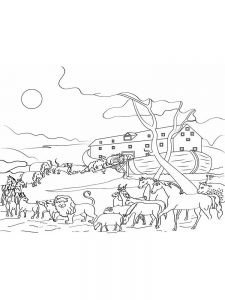 Noahs Ark Free Coloring Page Printable