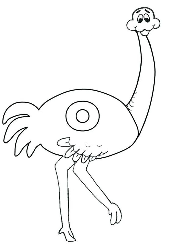 O Ostrich Coloring Page