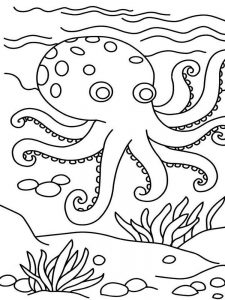 Octopus Coloring Pages Printable