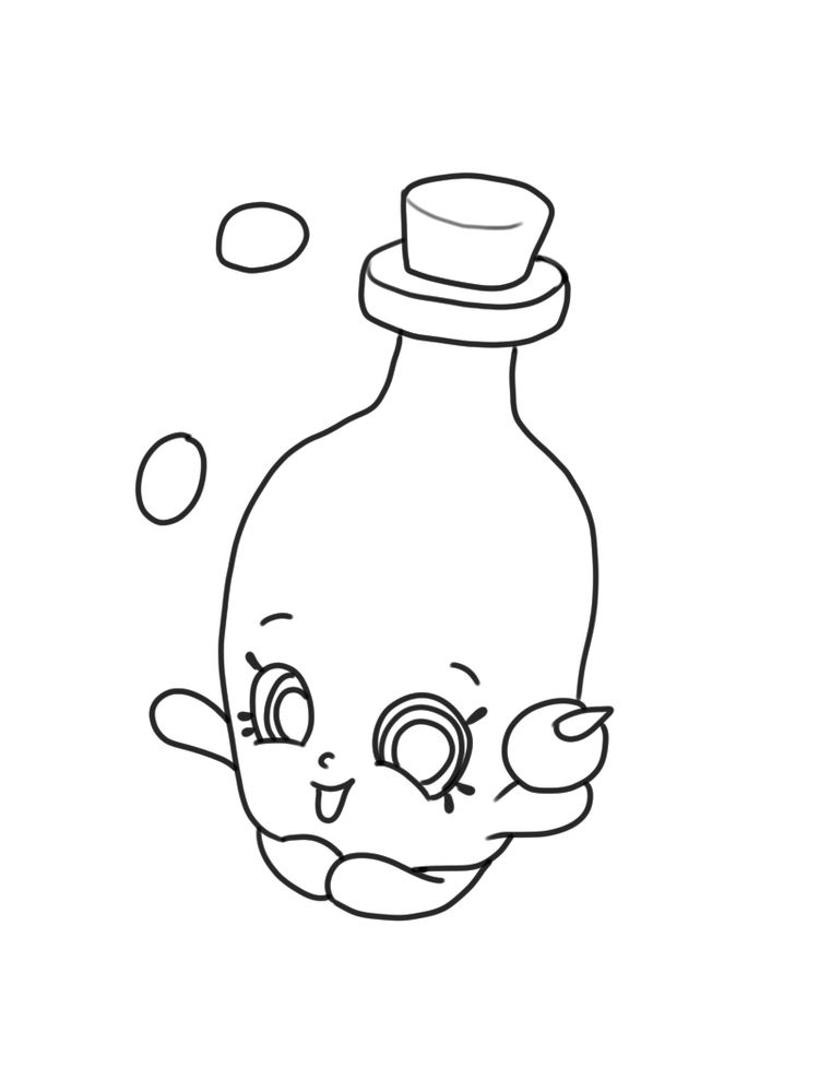 Olive oil shopkins page coloring free