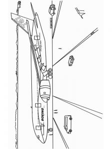 One Airplane Coloring Pages 1