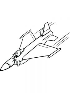 One Airplane Coloring Pages