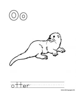 Otter Alphabet Coloring Pages Printable
