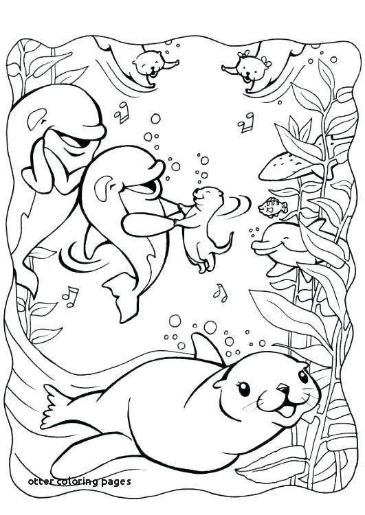 Otter And Dolphin Coloring Pages