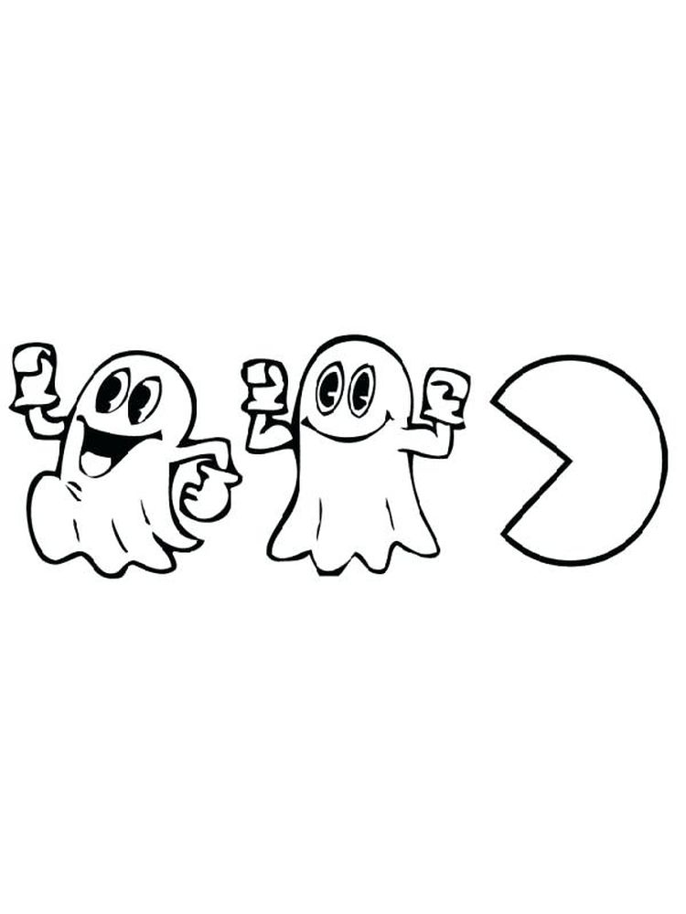 Pac Man Colouring Pages