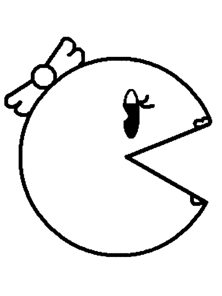 Pac Man Maze Coloring Pages