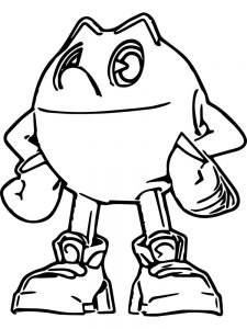 Pacman Coloring Pages To Print