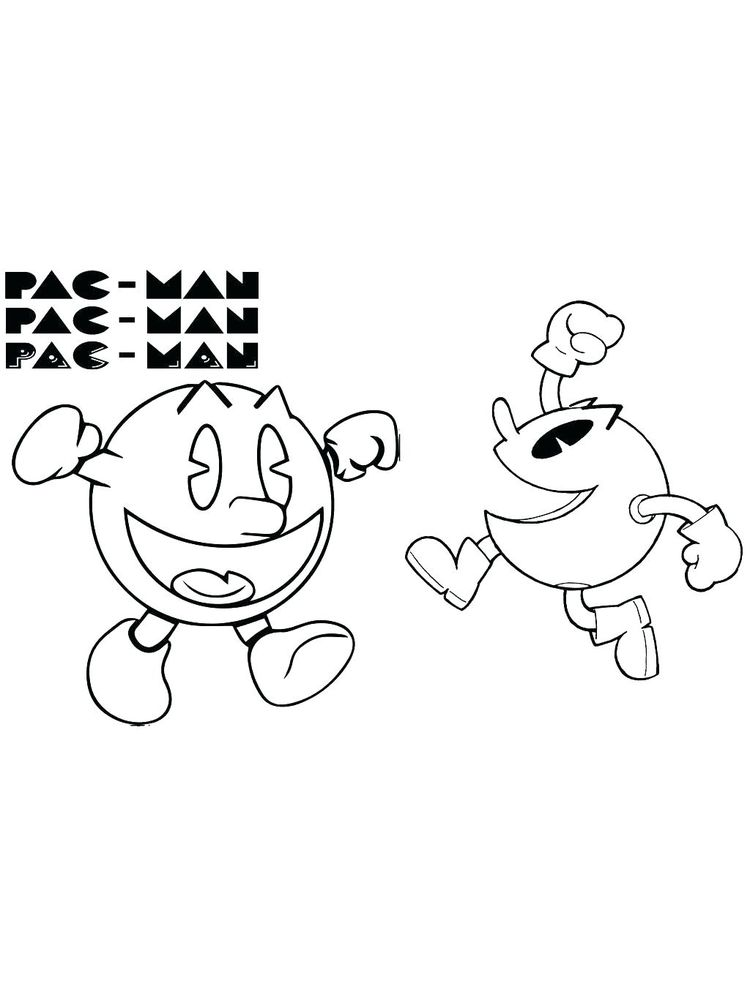Pacman Game Coloring Pages
