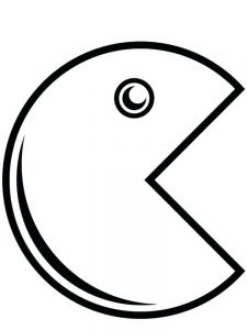 Pacman Ghost Coloring Pages