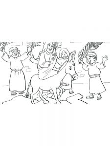 Palm Sunday 2019 Coloring Pages Free