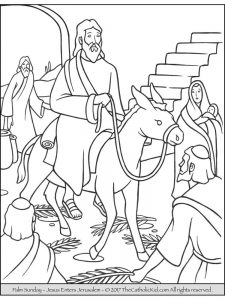 Palm Sunday Coloring Sheets Free