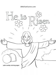 Palm Sunday Leaf Coloring Page