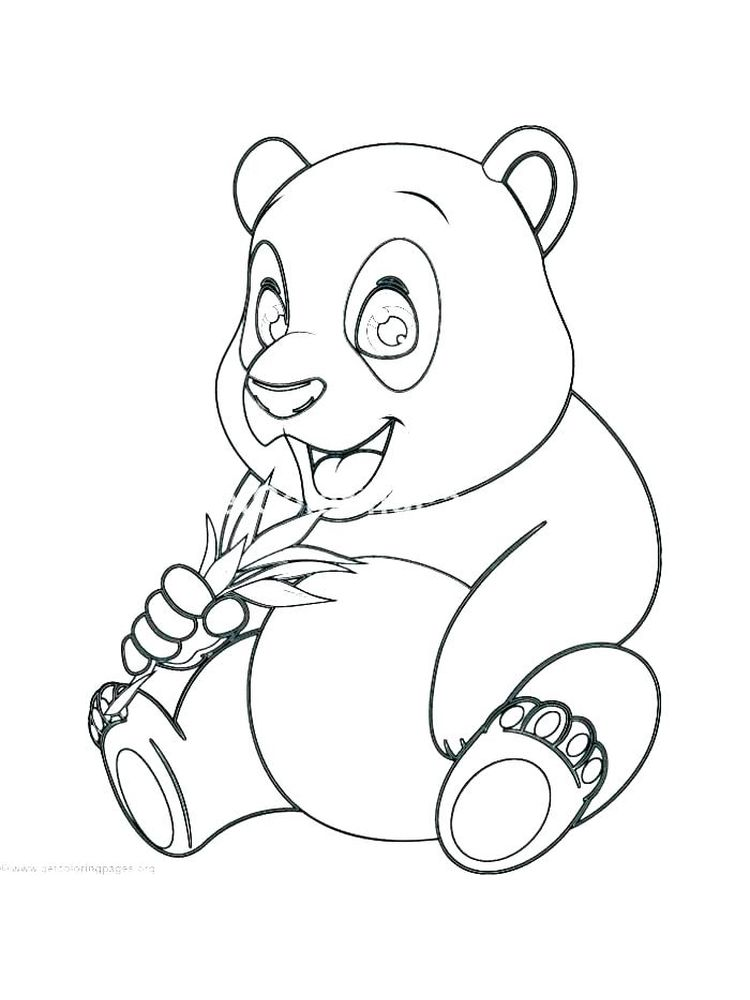 Panda Bear Coloring Pages Easy