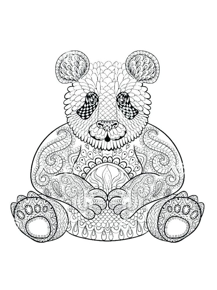 Panda Coloring Pages Pdf