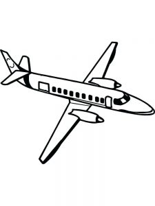 Passenger Airplane Coloring Pages 1