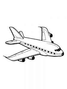 Passenger Airplane Coloring Pages