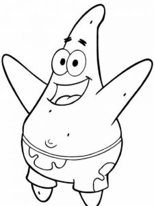 Patrick Star Colouring Pages