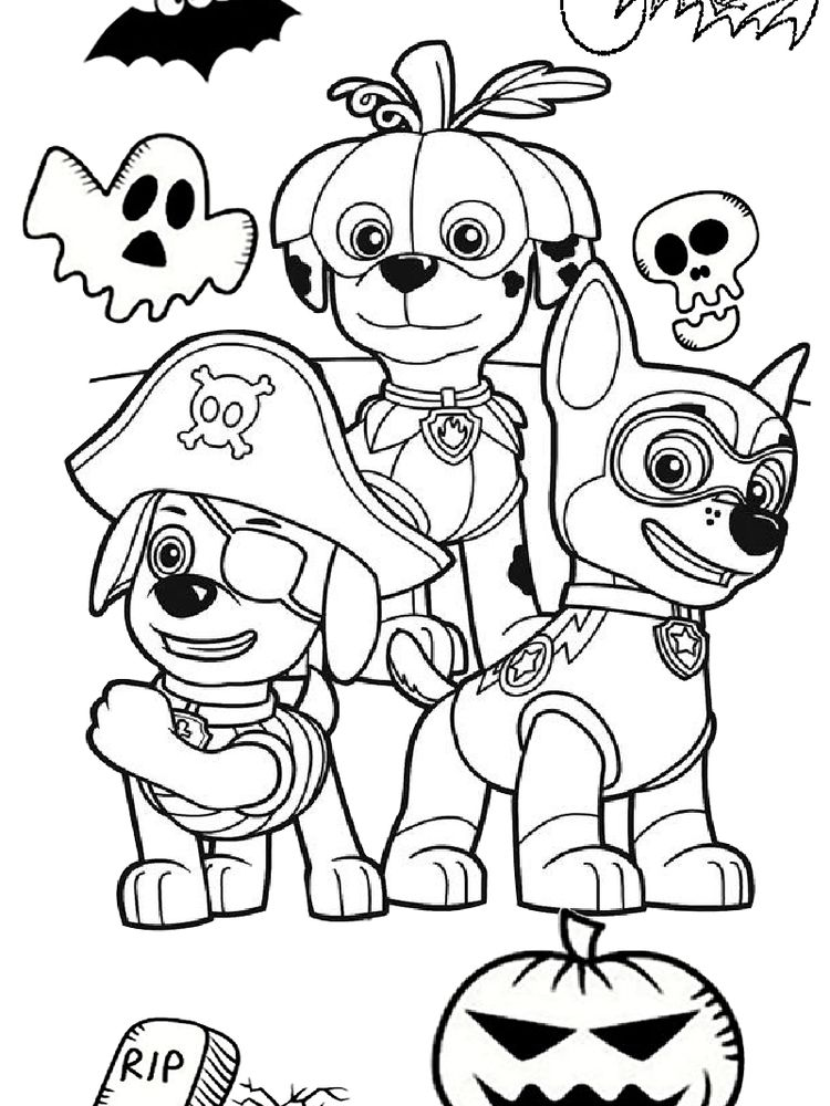 Paw Patrol Coloring Pages Mighty Pups