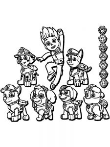 Paw Patrol Coloring Pages Tracker