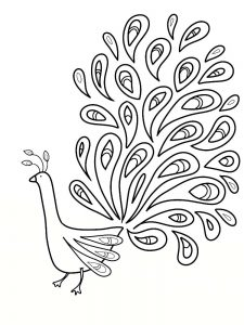 Peacock Coloring Pages 043