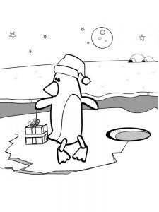 Penguins Free Coloring Pages