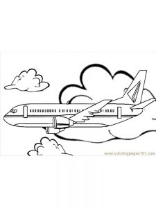 Peppa Pig Airplane Coloring Pages