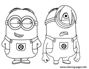 Phil And Stuart The Minion Coloring Pages Printable