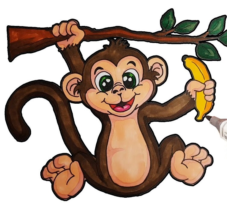 Picture Of A Monkey Coloring Page