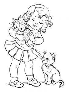 Pictures Of Kitten Coloring Pages