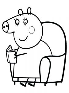 Pig Coloring Pages Cute