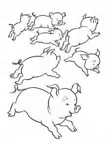 Pig Coloring Pages Free