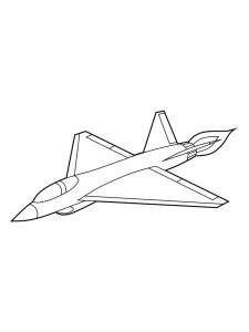 Plane Coloring Pages Free