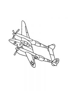 Plane Coloring Pages Hello Kitty 1
