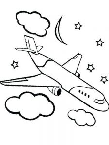 Plane Coloring Pages Hello Kitty 2