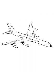 Plane Coloring Pages Print 1