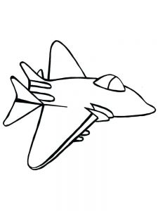 Plane Coloring Pages Print