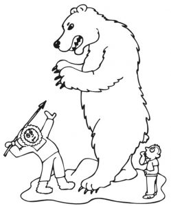 Polar Bear Coloring Pages Wild