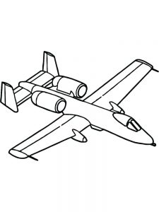 Police Airplane Coloring Pages 1