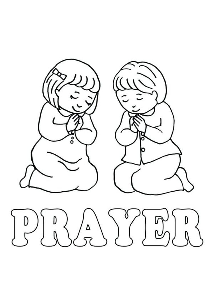 Prayer Card Coloring Pages