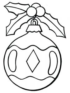 Preschool Christmas Ornament Coloring Pages