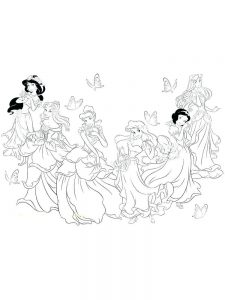 Princess Tiana Coloring Pages Pdf