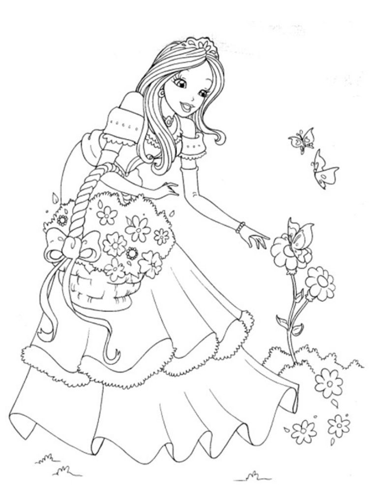 Princess Tiana Coloring Pages To Print